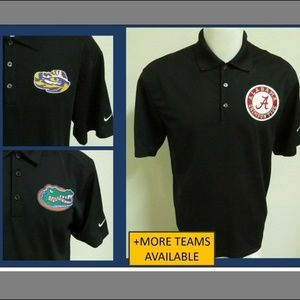 XL-Tall Black Nike Dri-Fit Mens db Poly #102T Polo